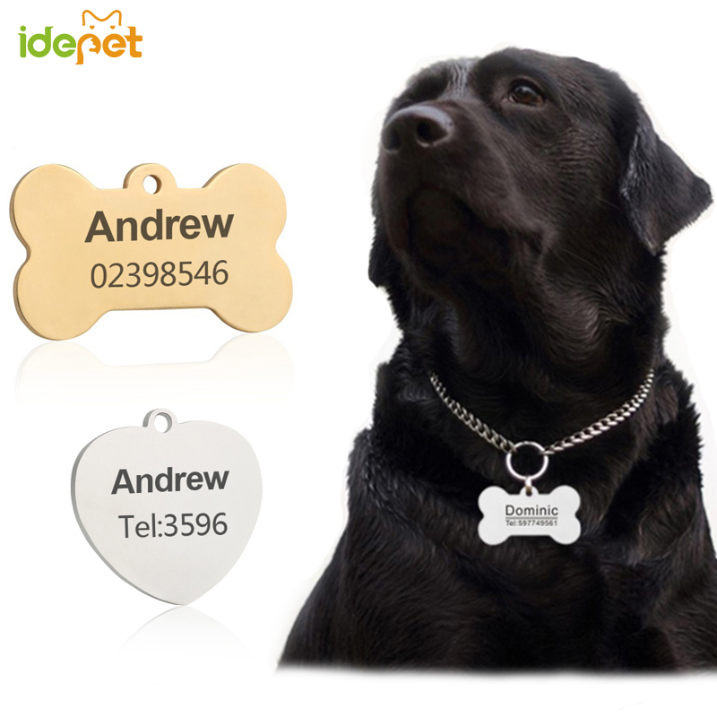Customized Dogs Collars and Harnesses Custom Dog Sheet Personalized Cat Dogs Tag Engraved Collar Dog ID Tag Name and Phone 41 A1 Car phone