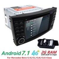 Android 7.1 2 Gam RAM 1024*600 HD điện dung màn hình Car DVD player Cho BENZ W211 E G CLK Lớp W219 CLS Máy Nghe Nhạc GPS TV 4 Gam wifi Đài Phát Thanh