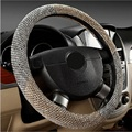 Hot Sale Skidproof Car Steering Wheel Cover Case Flax Fabric Anti-slip Steering-Wheel Covers Car Covers Interior Accessories