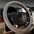 Venda quente Antiderrapante Tampa Da Roda de Direcção Do Carro Capa de Linho Tecido Anti-slip Direcção-Tampas de Roda De Carro Cobre Interior acessórios