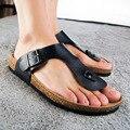 2016 Sandalias Casuales de La Moda zapatillas de corcho Verano Mujer zapatillas de playa flip tendencia de Sandalias zapatos antideslizantes más el tamaño 46