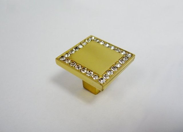 Hot Sales!!! 27X27 MM Crystal Cabinet Knobs For Furniture Hardware
