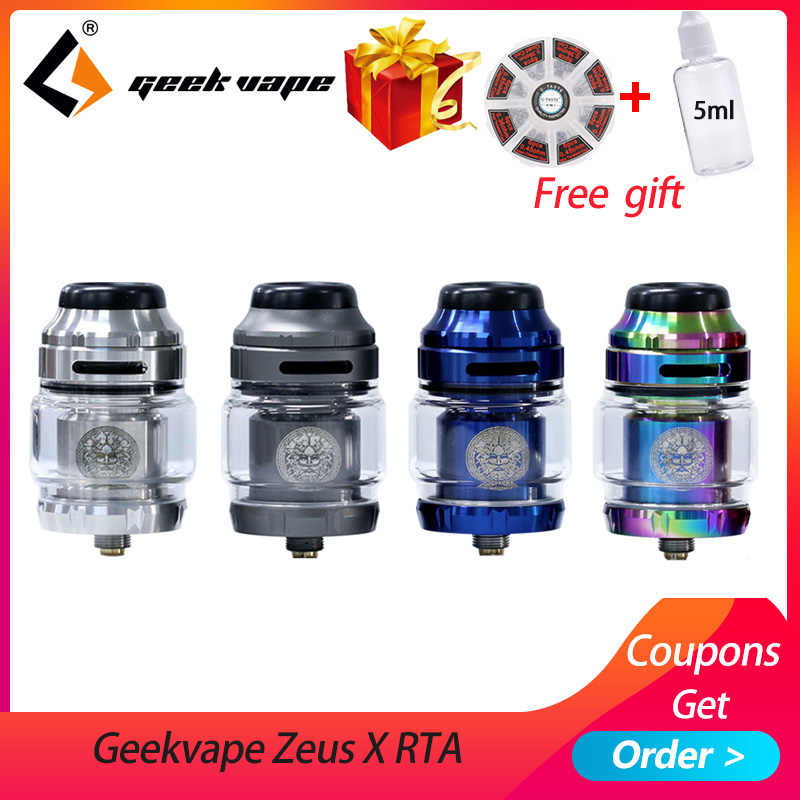 Big sale Geekvape Zeus X RTA 4.5ml tank 510 thread vape tank fit aegis mod vaporizer atomizer with DIY Tool coil