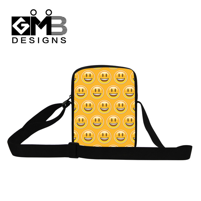 25272c6f17 2016 Piccolo 3D Emoji Viso Stampa Messenger Bags Bambini Cross-body Bag  Donna Uomo Casual