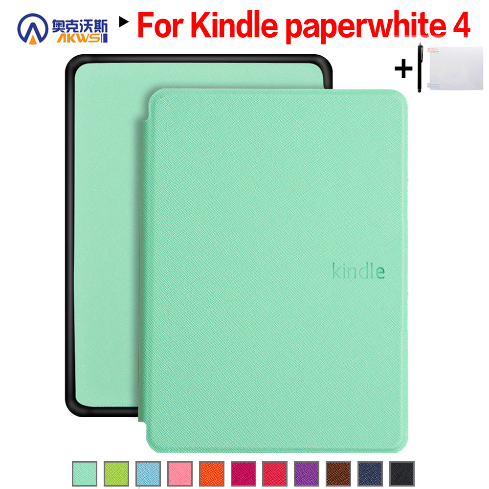 991f2ea992 Walkers Thin Smart Cover Case Stand Cover for Amazon Kindle Paperwhite 4  (2018 New Model)+Stylus+Film