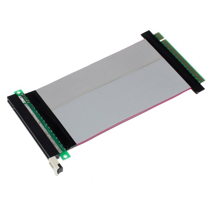 PCI-Express PCI-E 16X Riser Card Flexible Ribbon Extender Extension Cable Jun22 Professional Factory Price Drop Shipping
