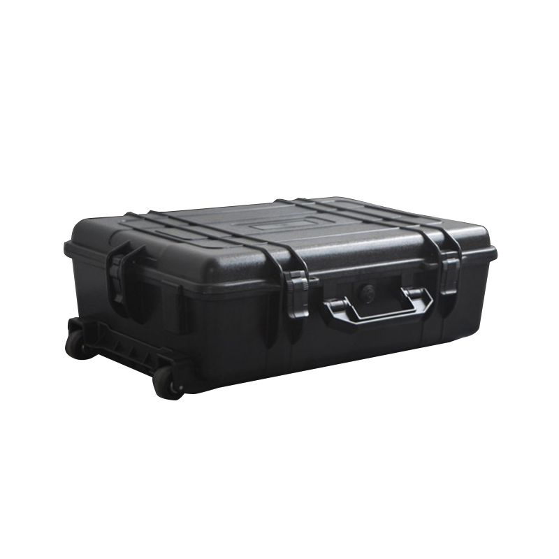 SQ5943A Internal 595*425*191mm Wheeled Hard Plastic Waterproof Carrying Case With Foam