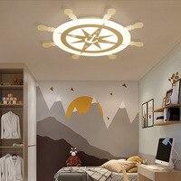 Детская комната потолочный светильник, Пиратская лодка современный минималистичный Средиземноморский личность мальчик спальня лампа 1763