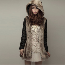 Woman winter coats and jackets 2016 New Fashion Fur Coat Female Hooded Parkas For Women Winter