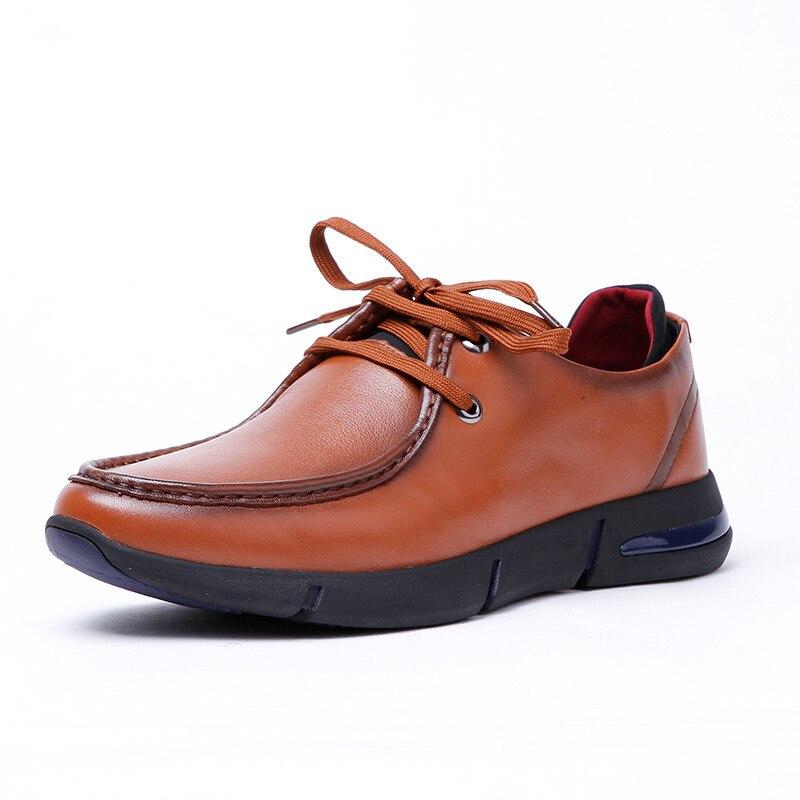 Véritable Black wine Red Casual Top Mocassins brown Qualité Cuir Hommes Marque En Chaussures Lacets À raPrFx
