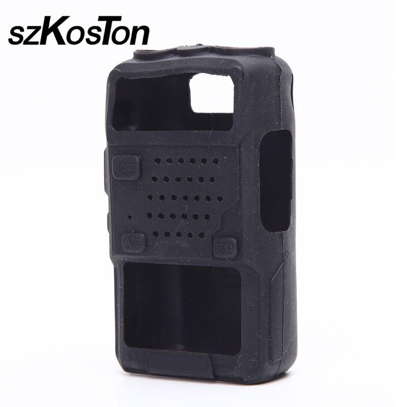 1 Pcs Silicone Radio Case Soft Rubber Holster Walkie Talkie Holster For BaoFeng UV5R UV5RA UV5RE UV5RB UV5RC UV5RA+ UV5RE TYTF8