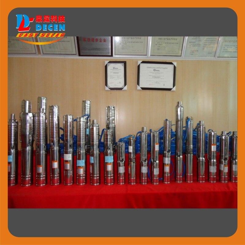 DECEN @ 4000 Watt Wasserpumpe + 5500 Watt PV Pump Inverter Für Solar pumpsystem Anpassung Wasser Kopf (50 32 mt), Täglich Wasserversorgung (60 100m3