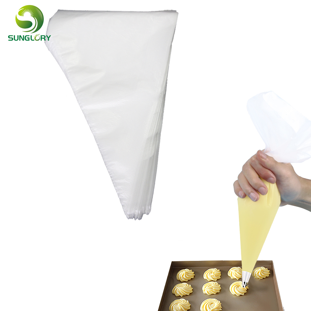 medium size 100pcs disposable cake decorating piping bag set,plastic icing pastry bags free shipping