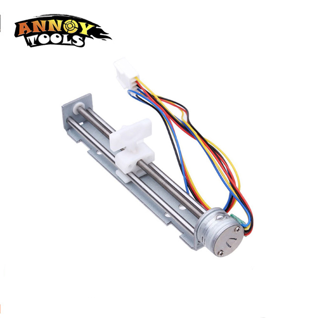 Free Shipping 18 Degree Step Angle Stepper Motor Screw With Nut Slider + 2 Phase 4 Wire Of DC 9-12V/800mA Driving Voltage