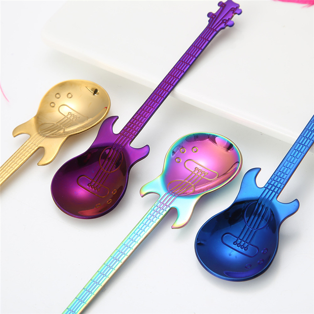 Stainless Steel Guitar Shaped Spoon