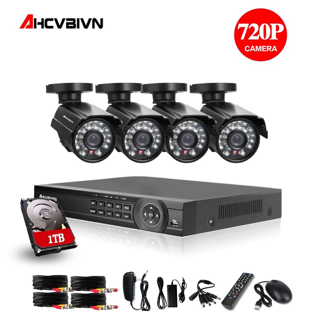 OWSOO 8CH 1080P 5-IN-1 AHD DVR 8Pcs 720P IR Bullet Home Security CCTV Camera Kit