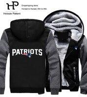 Dropshipping Men Women Unisex Patriots Hoodies Zipper Sweatshirts Jacket Winter Warmth Thicken Fleece Hooded Coat