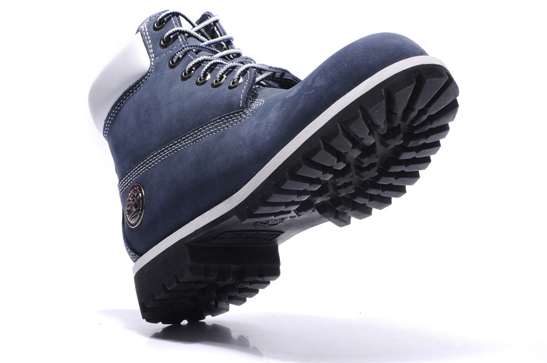 Original TIMBERLAND Man 10061 Blue Winter Ankle Boots,Men Timber Silver Metal Genuine Leather Outdoor Warm Durable Shoes 40-45 1
