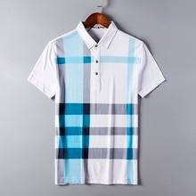 2017 Polo Homme Markenkleidung Herren Hemd Marken Baumwolle kurzhülse Männer drehen-unten Kragen Größe S-3xl-freies Verschiffen Plaid