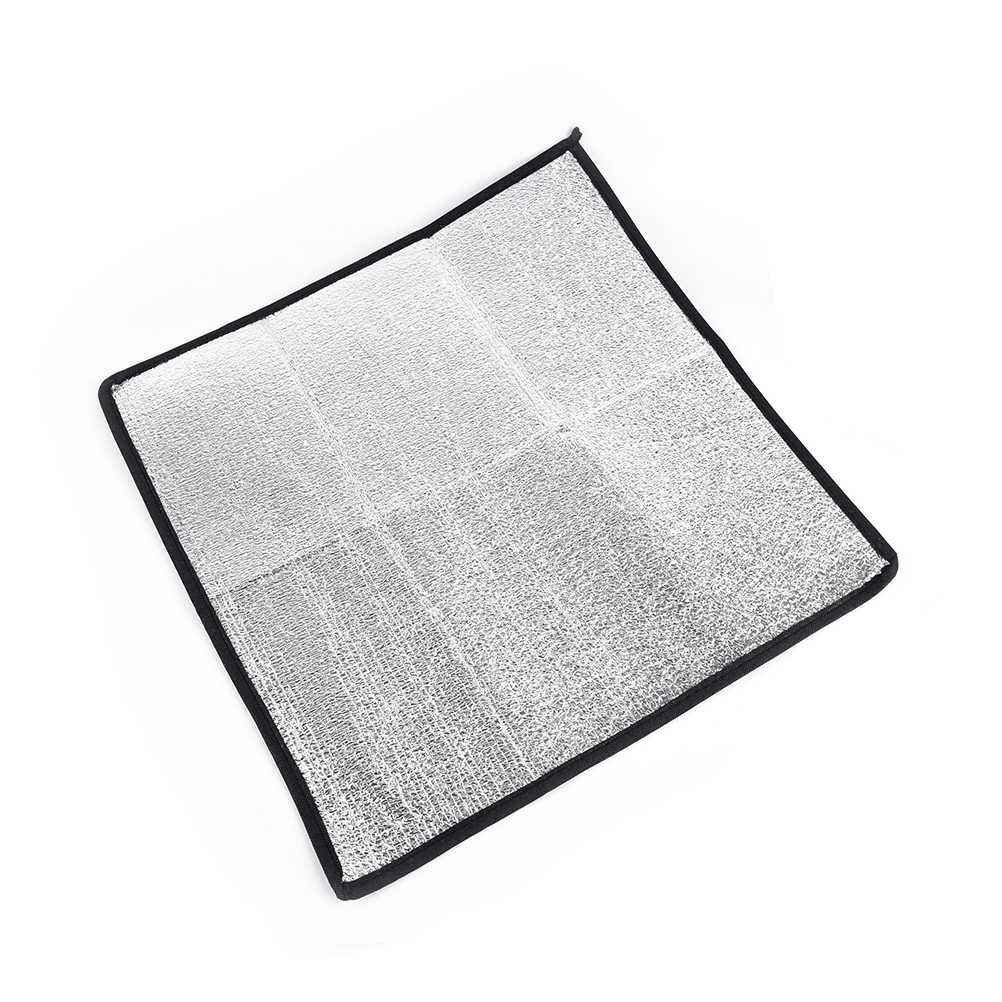 防水アルミ箔 Eva キャンピングマット折りたたみ折りたたみピクニックビーチマットレス屋外マットパッド 50*50*0.25 センチメートル