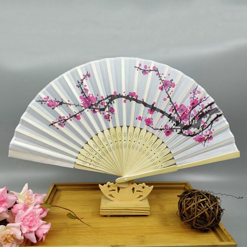 Bridal Wedding Favors Japanese Geisha Lady Design Folding Bamboo Fan Handfan