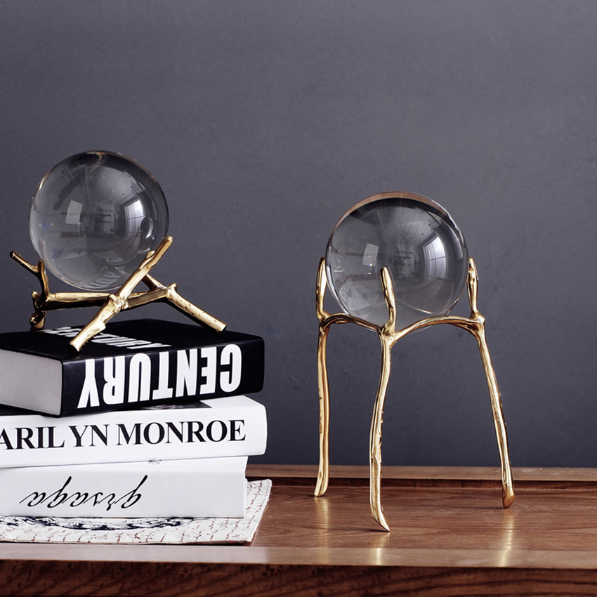 Европейский творчески кристалл стеклянный шар рабочего декор украшения корабля мяч Главная Свадебный декор интерьера статьи