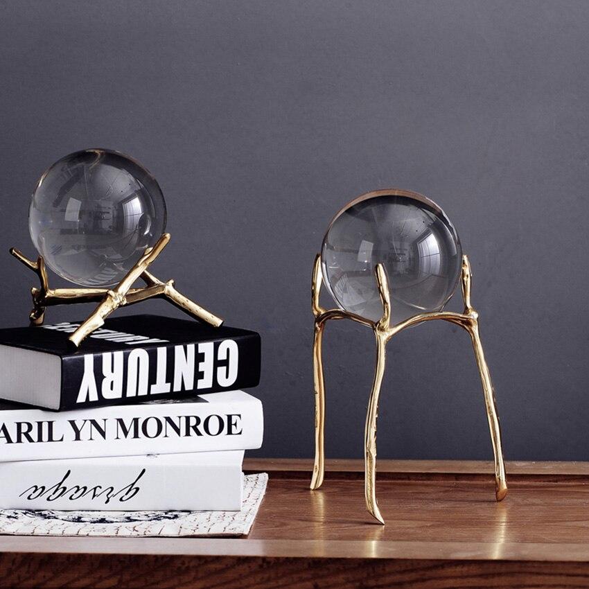 European Creative Fashion Crystal glass Ball Desktop decor Craft Ornaments Home wedding Decor Furnishing Articles