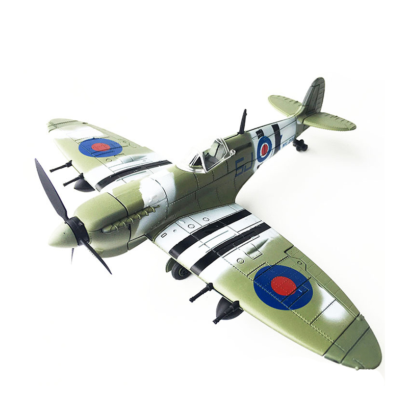 1pcs Random 22*18cm Assemble Fighter Model Toys Building Tool Sets Aircraft Diecast 1/48 Scale War-ii Spitfire Gift For Boy Model Building Tool Sets