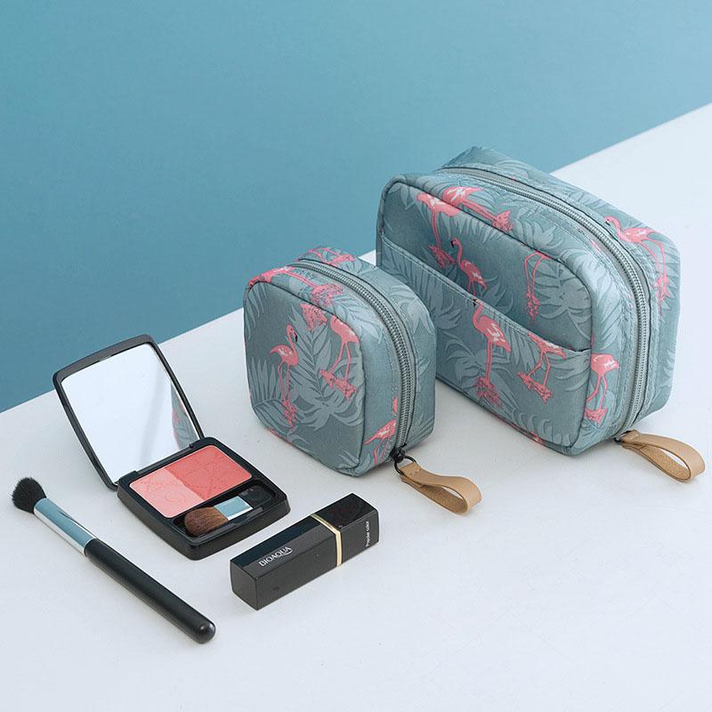 Fashion Mini Solid Color Flamingo Makeup Bag Lipstick Bag Cactus Travel Cosmetics  Beauty Makeup Bag Storage Bag