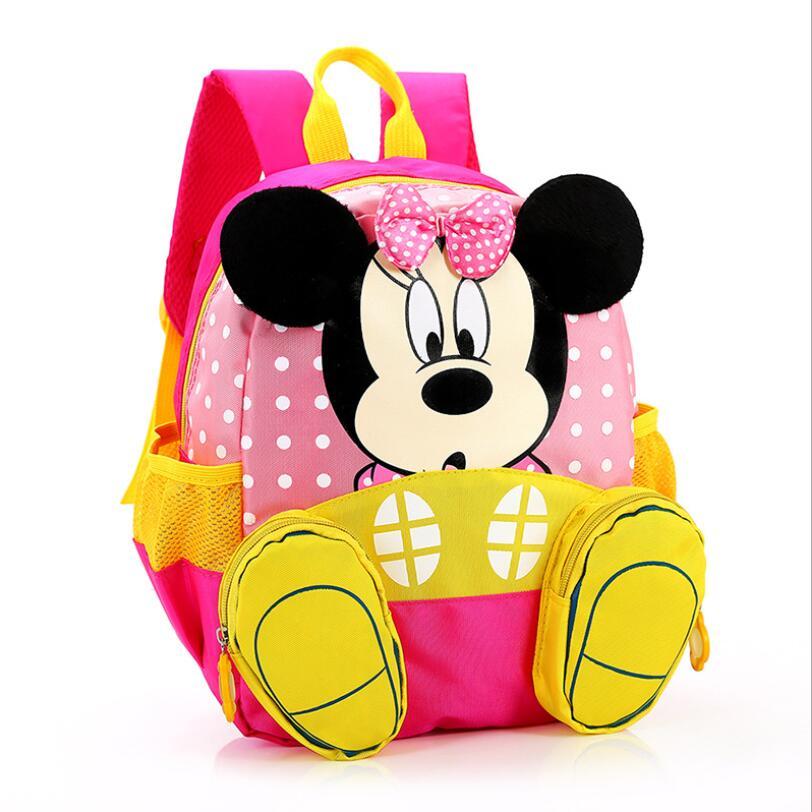 2018 Mickey&Minnie Children Backpacks kindergarten Schoolbag Kids Backpack Children School Bags Baby Girls Boys Backpacks|School Bags| |  - title=