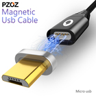 Pzoz Magnetic Cable Micro Usb Fast Charging Adapter Micro Usb Cabel Android Microusb Magnet Charger Plug mobile phone for xiaomi