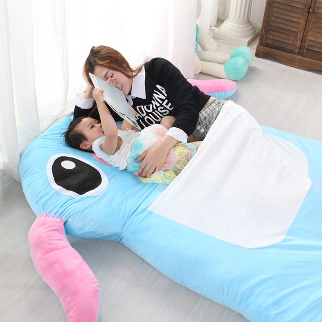 2017 Anime Sch Cartoon Tatami Oversized Beanbag Mattress Sleeping Bag Plush Soft Bed