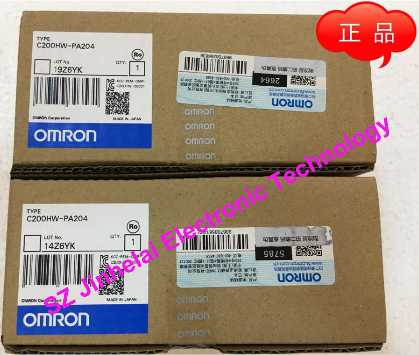 New and original  C200HW-PA204  OMRON   Power module unit new and original e3x da11 s omron optical fiber amplifier photoelectric switch 12 24vdc