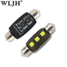 WLJH-phare de voiture, 2x LED, plaque d'immatriculation, éclairage intérieur, dôme, lampe de toit automatique, éclairage de toit, éclairage 39mm, 239mm