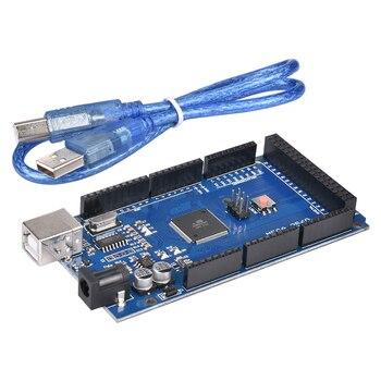 3D принтер 1 шт. МЕГА 2560 R3 + 1 шт. RAMPS 1,4 панель управления + 5 шт. DRV8825 шаговый двигатель привод Перевозчик Reprap для 3D принтера комплект