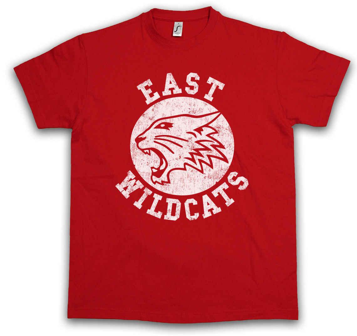 7beba59a40f8 Detail Feedback Questions about EAST WILDCATS T SHIRT High School  Basketball Wild Musical Cats Team Logo Symbol Harajuku Tops Fashion Classic  Unique t Shirt ...