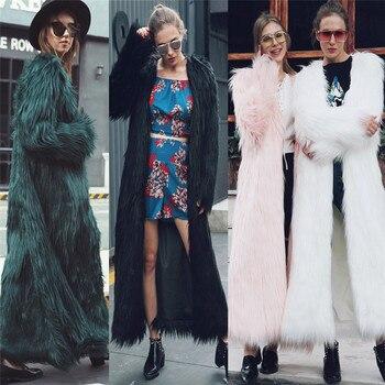 Lanshifei/пальто из искусственного меха для молодых девушек, длинное пальто из лисьего меха, длинная Меховая куртка для женщин, 2018 год, зима, новы...