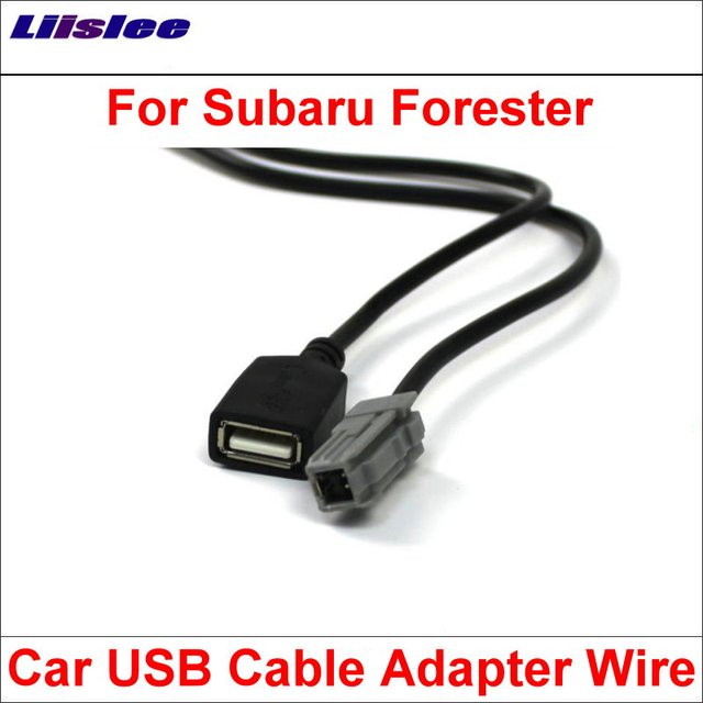 Liislee Original Plugs To USB Adapter Conector For Subaru Forester on