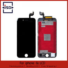 Buena calidad para iphone 6 s lcd pantalla y pantalla táctil de reemplazo digitalizador asamblea color negro envío gratis
