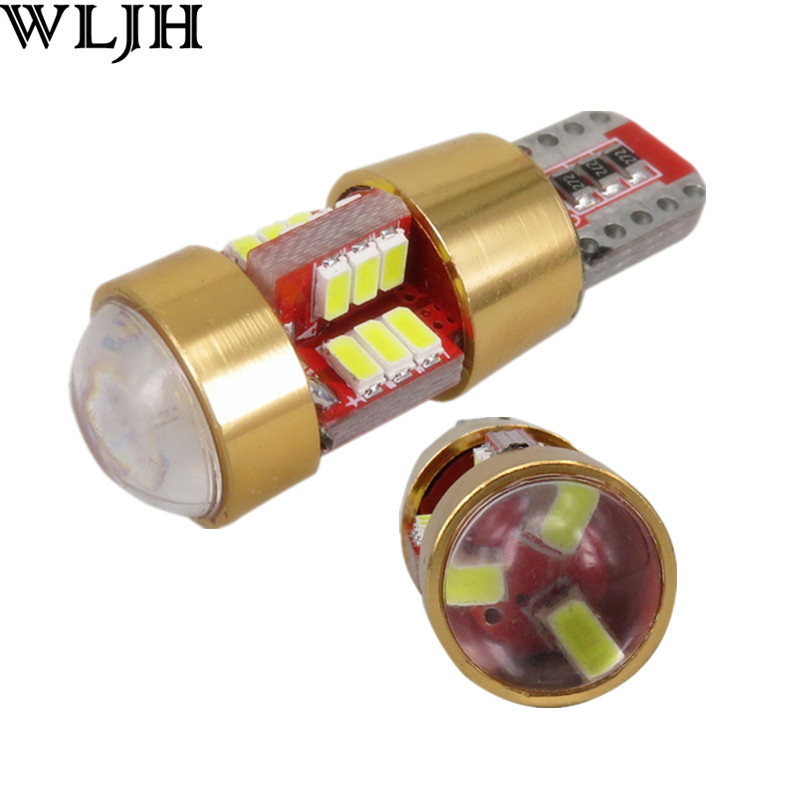 2x Canbus Error Free Heatsink Car LED Light W5W T10 LED 3014 SMD Lens Eyelid Lamp Bulb Auto Lamp Bulb for <font><b>BMW</b></font> Audi Benz W204