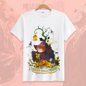 Image 4 - New Anime Mahoutsukai no Yome  Cosplay T shirt Hatori Chise T Shirt cotton Short Sleeve Tops Tee