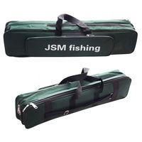 Shaddock 낚시 휴대용 2 레이어 녹색 나일론 낚시 가방 낚시 막대 가방 케이스 낚시 태클 도구 보관 가방