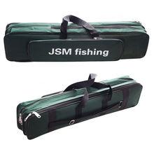 Shaddock pesca portátil 2 camadas verde náilon sacos de pesca vara de pesca caso saco de pesca equipamento ferramentas saco de armazenamento