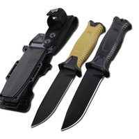 DuoClang Tactical Titanium Coating Steel Blade Tactical Knife Survivor Infantry Military Fixed Blade Knife Hot