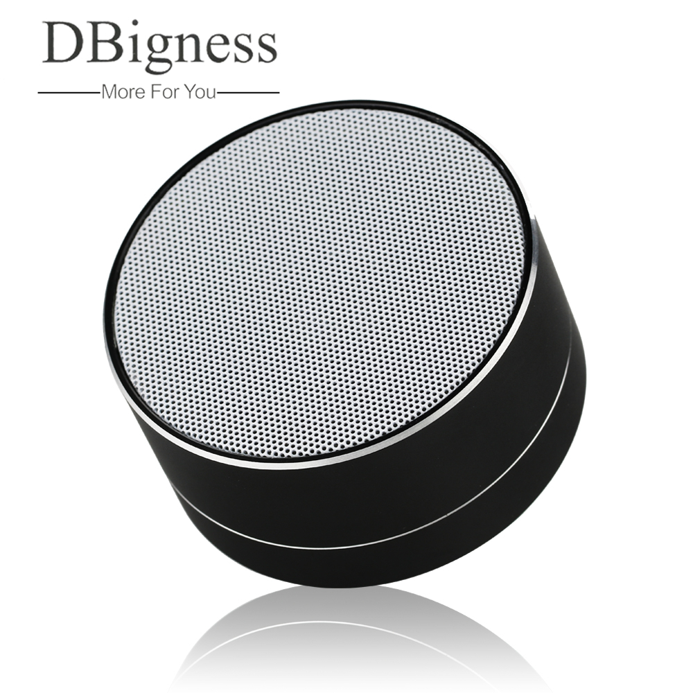 Dbigness Aluminum Alloy Cylinder Wireless Bluetooth Speaker Support Handsfree Calls TF Card