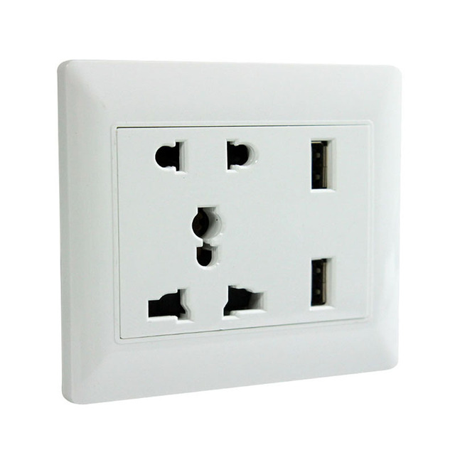 Superior Electrical Sockets For Home Decor Durable International Universal Double Usb Outlet Wall Socket Plug
