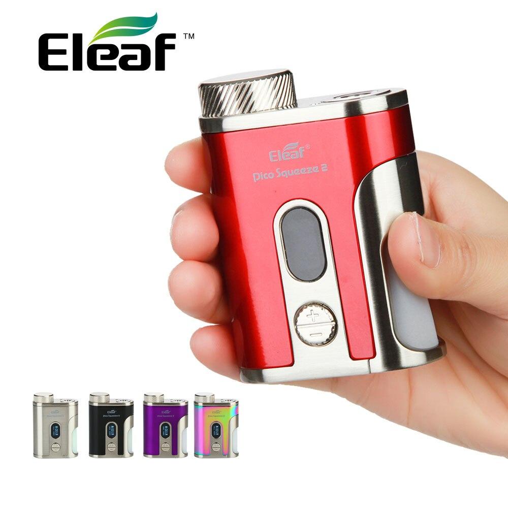 Original Eleaf IStick Pico presser 2 Squnker TC boîte Mod Max 100 W sortie avec bouteille de compression 8 ml pas de Kit de Vape cellulaire Vs Eleaf invoquer