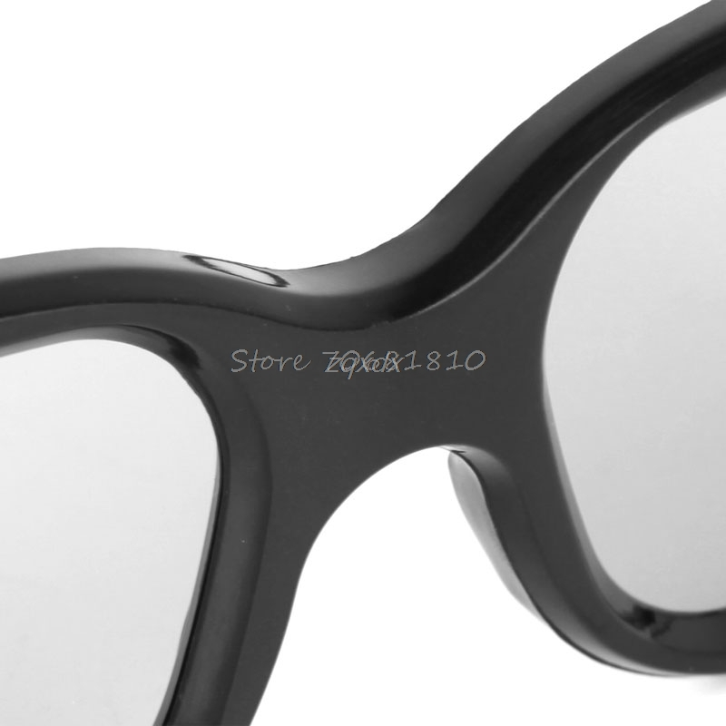 Hot Circular Polarized Passive 3D Stereo Glasses Black For 3D TV Real D IMAX Cinemas Z17 Drop ship
