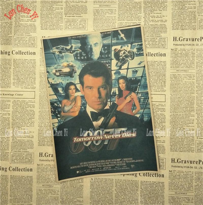 James Bond 007 Serie 1 Klassisk Film Kraftpapper Poster Vintage - Heminredning - Foto 3