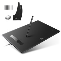 Parblo Island A609 9 x 6 inches Digital Graphic Tablet Drawing Painting Board with Battery free Pen+ Glove+15 Replacement Nibs
